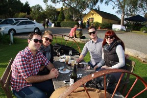 Great food, great wine and great friends enjoying the Shoalhaven Coast Winter Wine Festival at Silos Estate and Wileys Creek in Berry