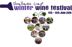 WINTER WINE FESTIVAL LOGO WITH GRAPES