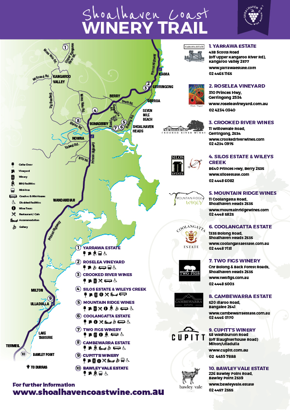 shoalhaven coast wine trail