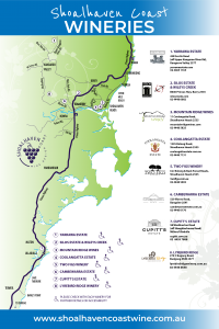 Shoalhaven Coast Winery Map - 2021