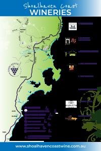 Shoalhaven Coast Winery Map - 2021
